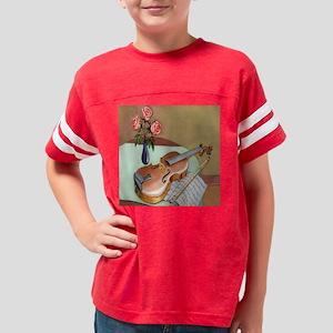 3-Music Violin Roses 12 X 12 Youth Football Shirt