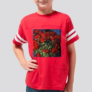 Van Gogh Red Poppies Youth Football Shirt