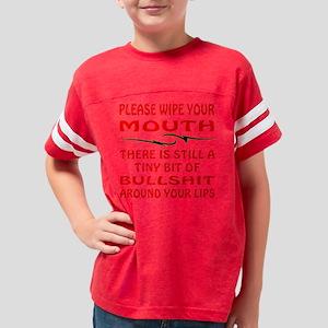 blk_Wipe_Mouth_Bullshit_Lips Youth Football Shirt