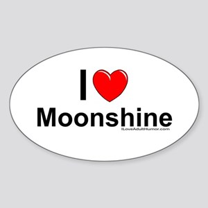 Moonshine Sticker (Oval)
