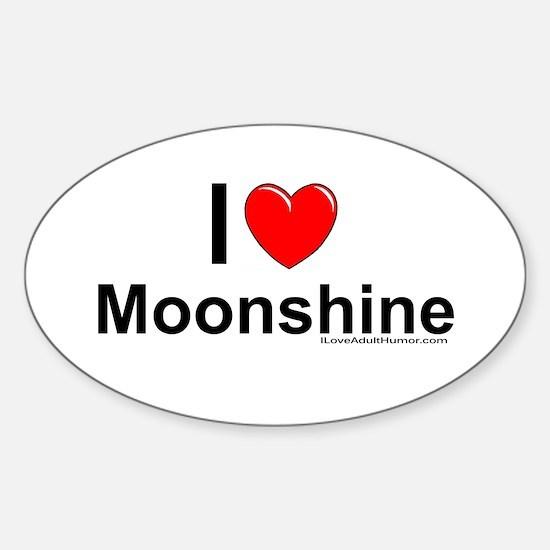 Moonshine Sticker (Oval)