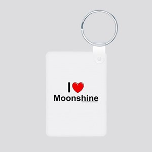 Moonshine Aluminum Photo Keychain