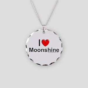 Moonshine Necklace Circle Charm