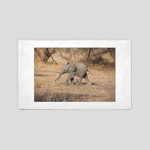 Baby Elephant 3'x5' Area Rug