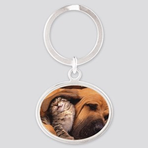 Would a Hug Make Your Day Oval Keychain