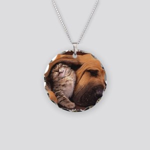 Would a Hug Make Your Day Necklace Circle Charm