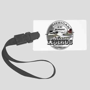 A-37 Dragonfly Aircraft Large Luggage Tag