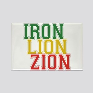 Iron Lion Zion Rectangle Magnet