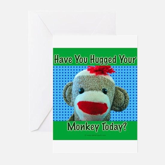 Hugged Monkey? Greeting Cards (Pk of 10)