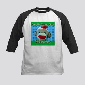 Hugged Monkey? Kids Baseball Jersey