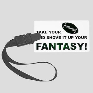 Shove It Fantasy-Football Large Luggage Tag