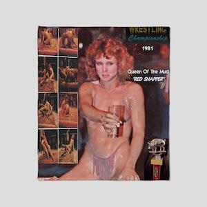 Red Snapper Mud Wrestling Queen 1981 Throw Blanket