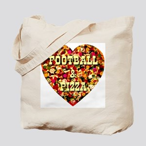 Football & Pizza Tote Bag