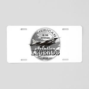 B-58 Hustler Bomber Aluminum License Plate