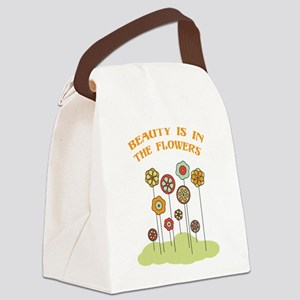 Beauty Is In The Flowers Canvas Lunch Bag