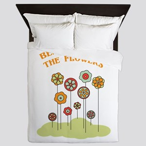 Beauty Is In The Flowers Queen Duvet