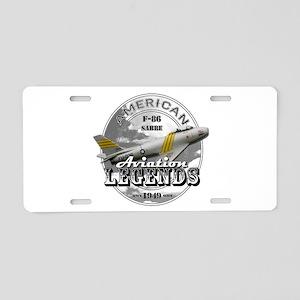 F-86 Sabre Aluminum License Plate