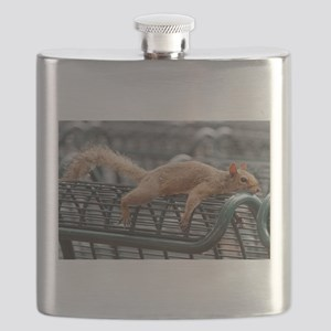 Squirrel resting laid out Flask