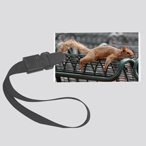 Squirrel resting laid out Luggage Tag