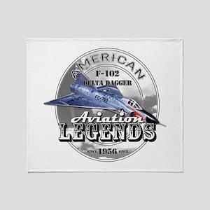 F-102 Delta Dagger Throw Blanket