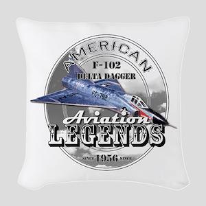 F-102 Delta Dagger Woven Throw Pillow