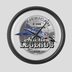 F-102 Delta Dagger Large Wall Clock