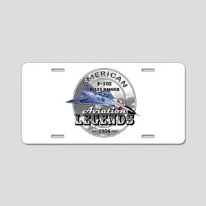 F-102 Delta Dagger Aluminum License Plate