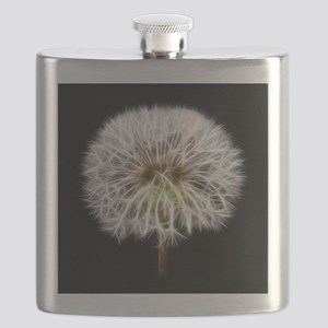 White Dandelion Flower Plant Flask
