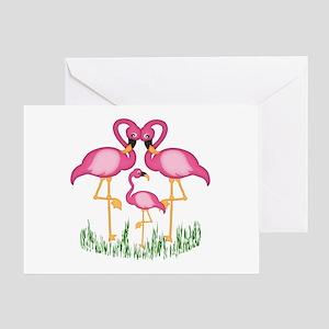 So Sweet Flamingos Greeting Card