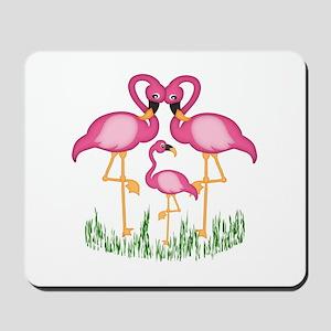 So Sweet Flamingos Mousepad