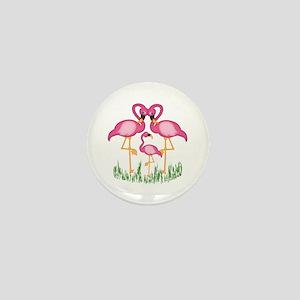 So Sweet Flamingos Mini Button