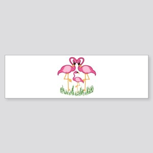So Sweet Flamingos Sticker (Bumper)