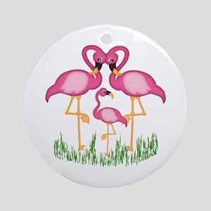 So Sweet Flamingos Ornament (Round)