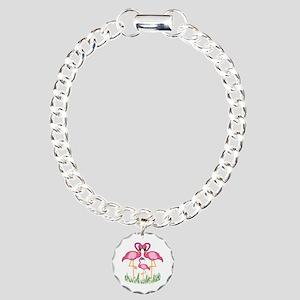 So Sweet Flamingos Charm Bracelet, One Charm