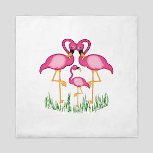So Sweet Flamingos Queen Duvet