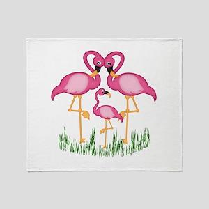 So Sweet Flamingos Throw Blanket