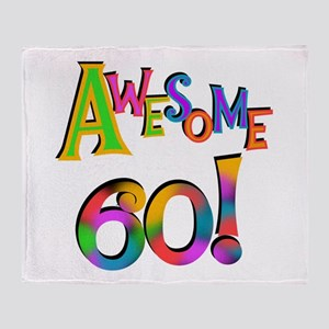 Awesome 60 Birthday Throw Blanket