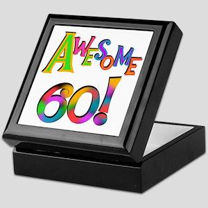 Awesome 60 Birthday Keepsake Box
