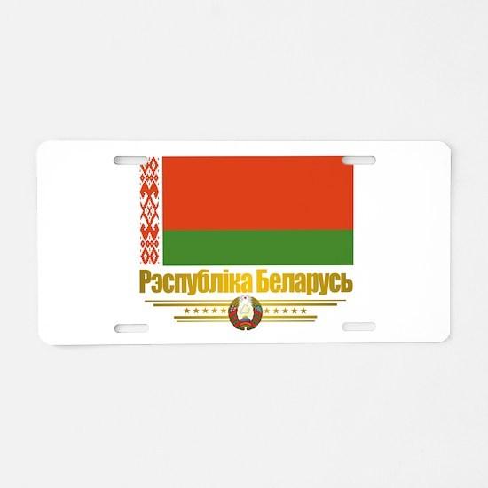 Belarus (Flag 10)2.png Aluminum License Plate