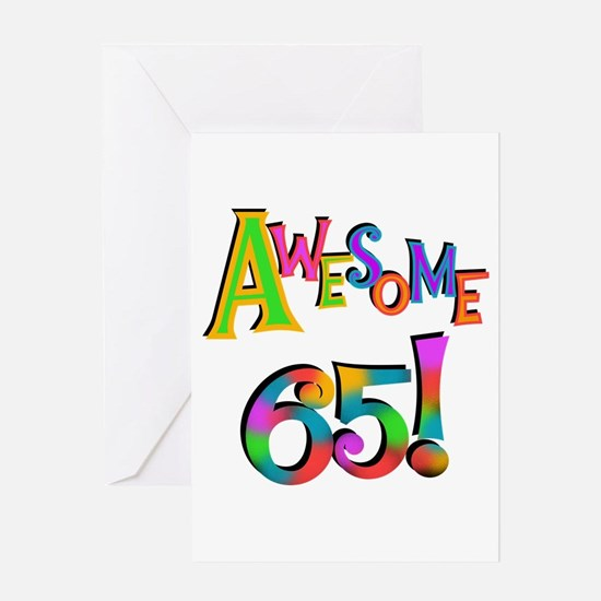 Awesome 65 Birthday Greeting Card
