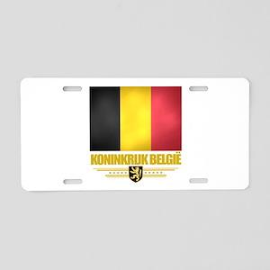 Belgium (Flag 10) Aluminum License Plate
