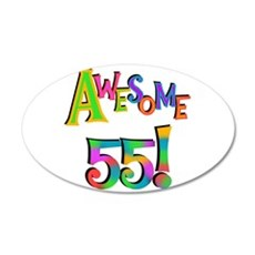Awesome 55 Birthday Wall Decal