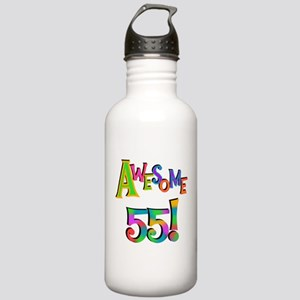 Awesome 55 Birthday Stainless Water Bottle 1.0L