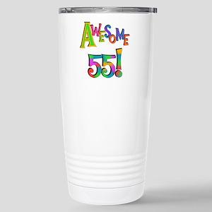 Awesome 55 Birthday Stainless Steel Travel Mug