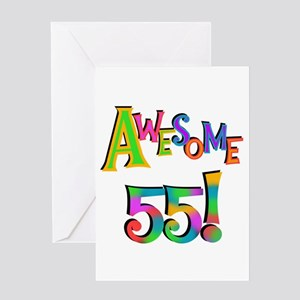 Awesome 55 Birthday Greeting Card