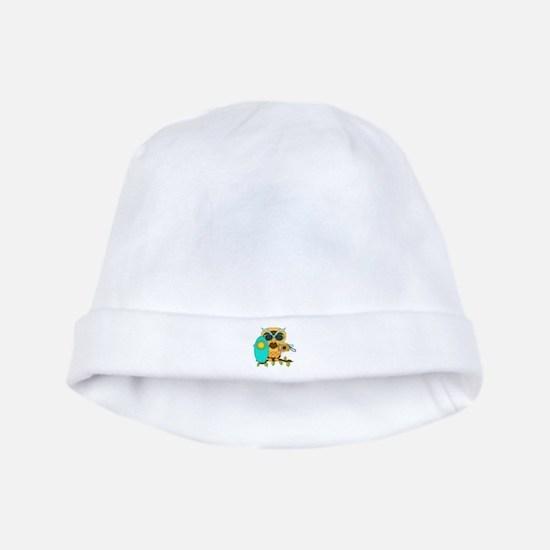 Surfing Boy Owl baby hat