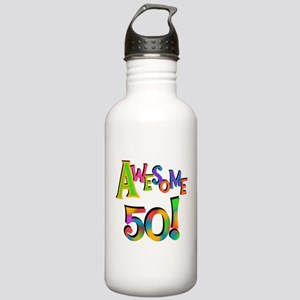 Awesome 50 Birthday Stainless Water Bottle 1.0L