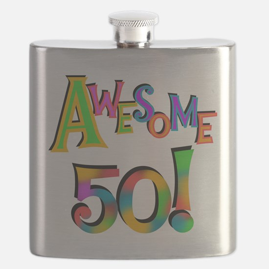 Awesome 50 Birthday Flask