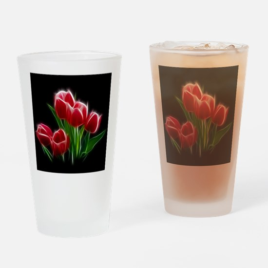 Tulip Flower Red Plant Drinking Glass