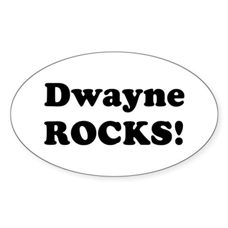 Dwayne Rocks! Oval Sticker